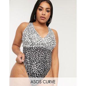 NWT ASOS curve twist front swimsuit Sz 20